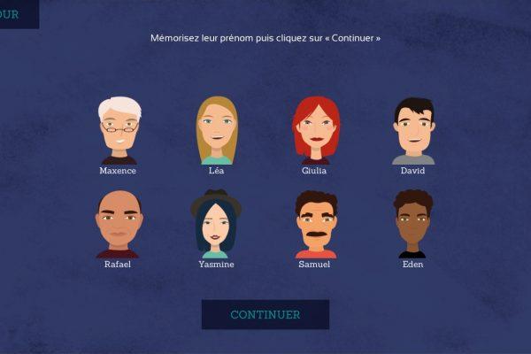 Visuel MeMo : mémoire des visages