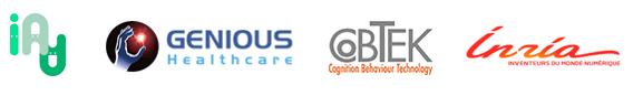 Logo innovationMaladieAlzeihmer Genious Healthcare cobtek inria
