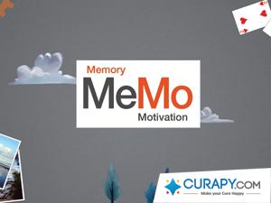 Splashscreen MeMo, entraînements cognitifs